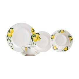 Aparelho De Jantar 20 peças de Porcelana Sicilian Lemon - Casa Del Grande