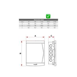 Caixa de Distribuição Tigre 12/16 Disjuntores Embutir s/ Bar