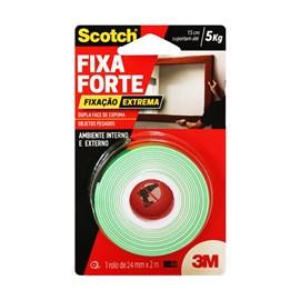 Fita Dupla Face 24mm x 2m Fixa Forte Espuma Extrema