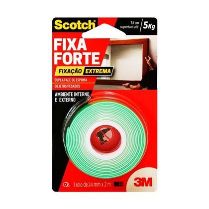 Fita Dupla Face 3M Scotch Fixa Forte Áreas Externas - 24 mm x 1,5 m