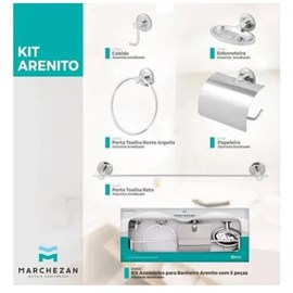 Kit Banheiro Alumínio 5 Peças Marchezan