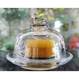 Manteigueira de Cristal Passaro - Lyor