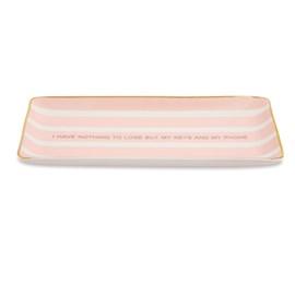 Mini Prato Decorativo em Cerâmica Mart Rosa 11350