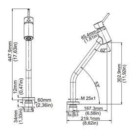 Misturador Monocomando Lavatório Bica Alta Mesa Dn15 (1/2) Loggica, Docol, Cromado