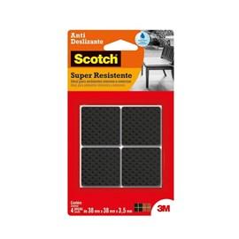 Protetor Antideslizante 3M Scotch Quadrado Preto Extra Grande - 4 unidades