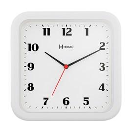 Relógio de Parede Analógico Moderno Quadrado Mecanismo Step Herweg Branco