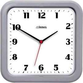 Relógio de Parede Analógico Moderno Quadrado Mecanismo Step Herweg Cinza