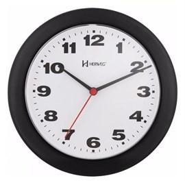 Relógio De Parede Redondo Preto Herweg 6103-034