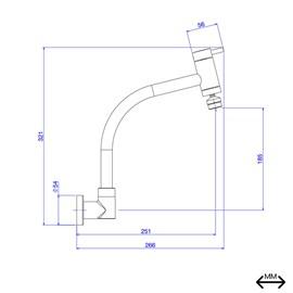 Torneira para Cozinha de Parede Bica Movel 1168 C Link - Deca
